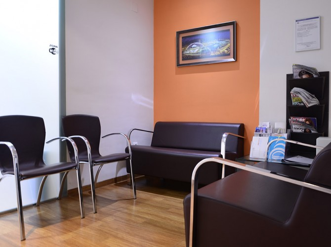 Sala de espera Clinica Cueva Goig